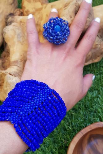 Anillo de flor en Azulón