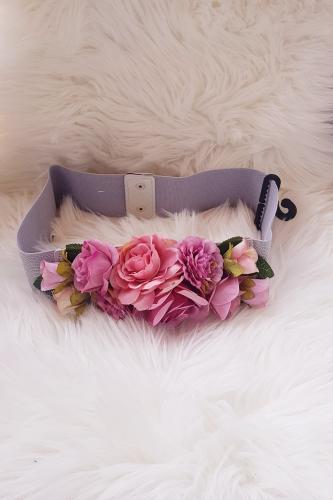 Cinturón de flores Pastel