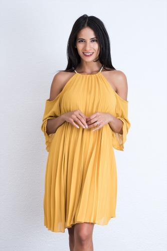Vestido Marbella Mostaza