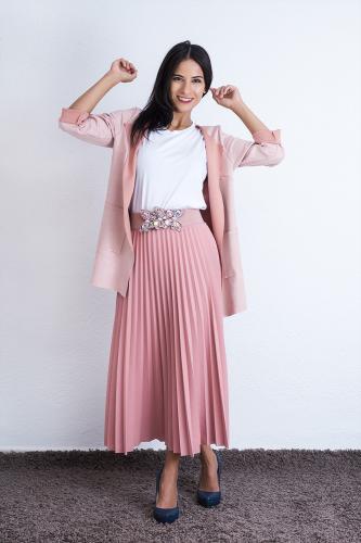 Falda Musta en rosa palo