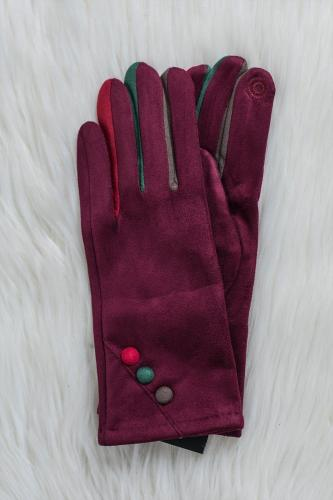 Guantes Pop Chic Burdeos