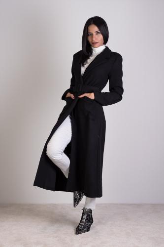 Abrigo Bardot Negro
