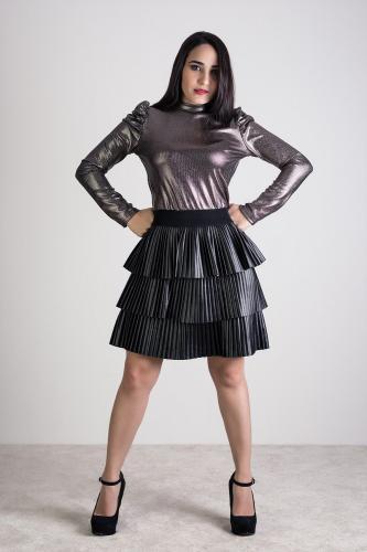 Falda Criss Negra