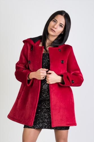 Abrigo Velvet Rojo