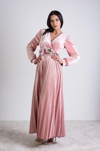 Vestido Lucía Rosa Palo