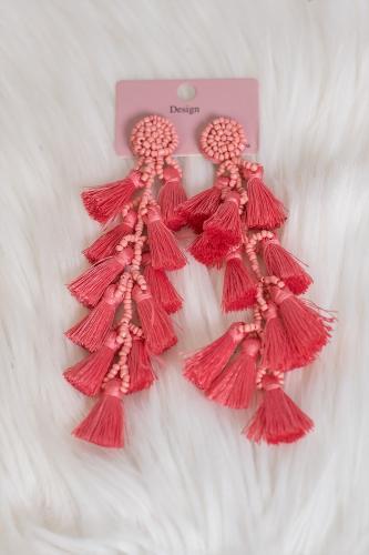Pendientes Boho rosa