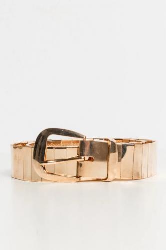 Cinturón metalizado dorado