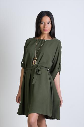 Vestido hippie verde