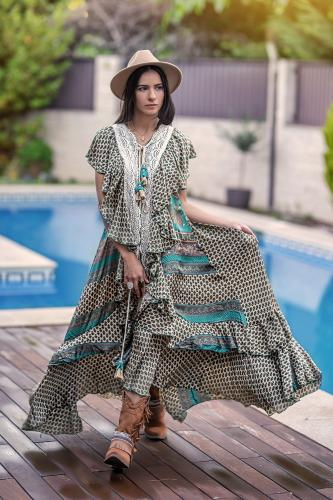 Kimono de seda Boho chic...