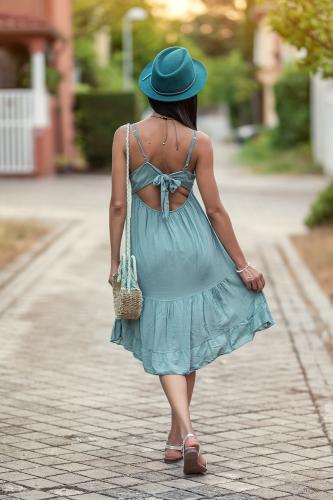 Vestido boho Aqua