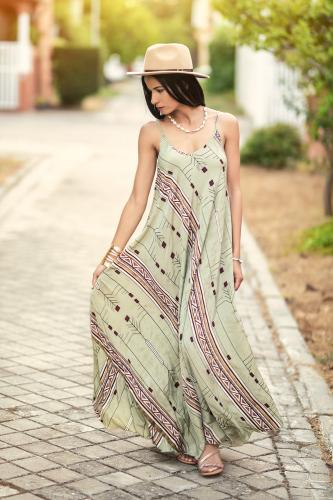 Vestido de seda Ruca