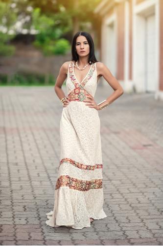 Vestido encaje Boho Sharmini