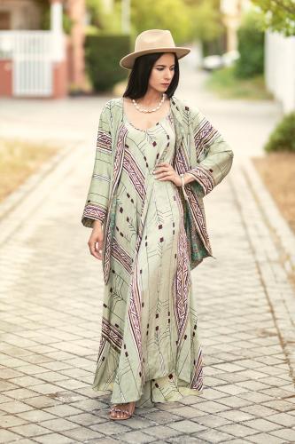 Kimono Reversible de seda Ruca