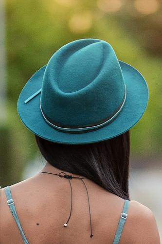 Sombrero  turquesa San Blas