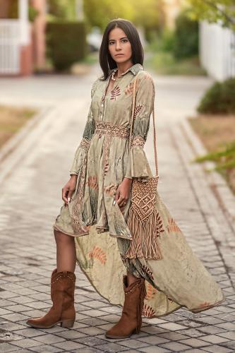 Vestido de seda Boho Maudit