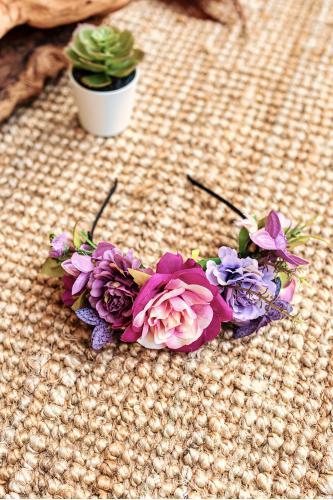 Diadema de flores boho