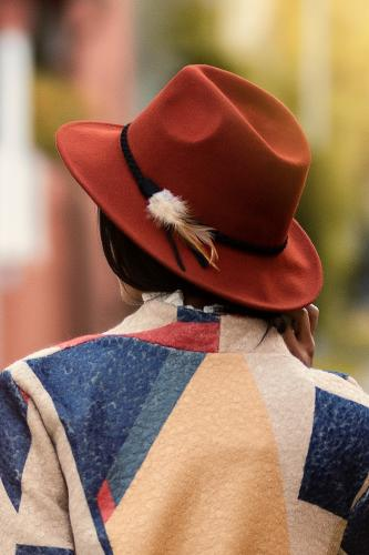 Sombrero boho Pluma