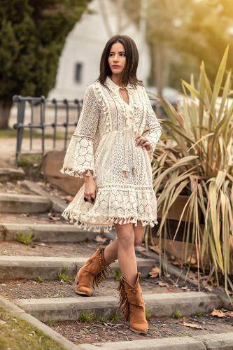 Vestido Boho Chic Leya