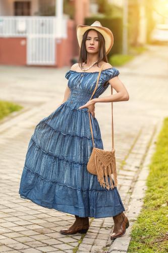 Vestido Boho Karim Largo