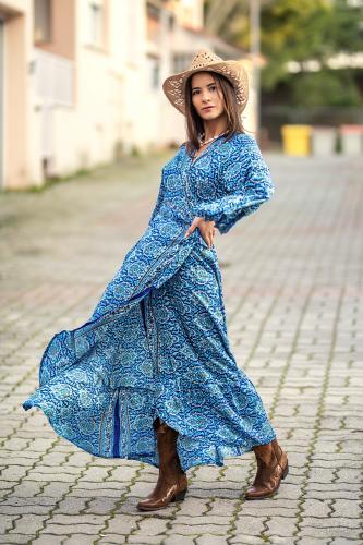 Vestido Kimono Boho Sha