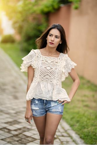 Blusa Boho Crochet