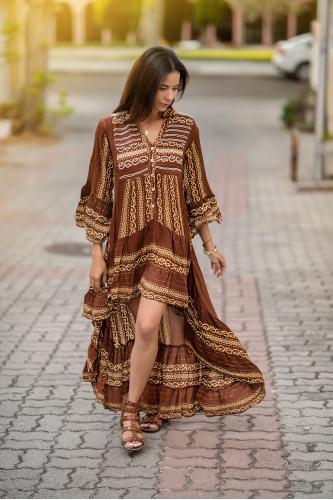 Vestido étnico Boho Bambula