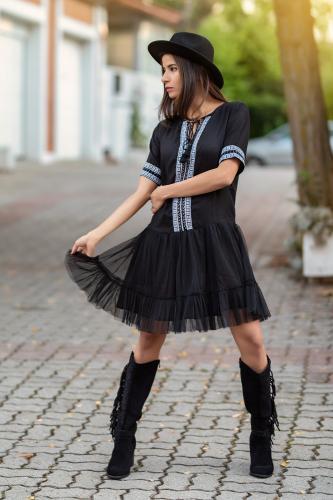 Vestido Boho Azabache